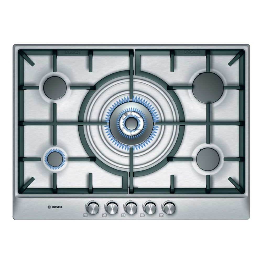 BOSCH 5 BURNER GAS HOB WITH WOK STYLE CENTRAL BURNER