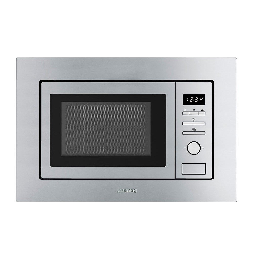 Smeg Built In Microwave With Grill, Stainless Steel