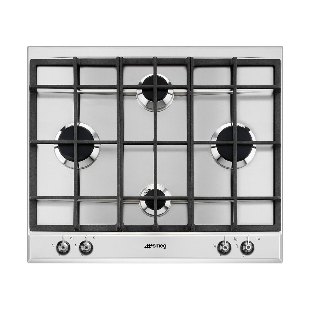 Smeg Classic 60cm Gas hob with Cast Iron pan stands