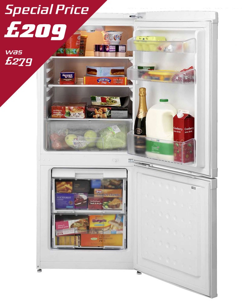 BEKO 55CM FRIDGE FREEZER - CS5342APW