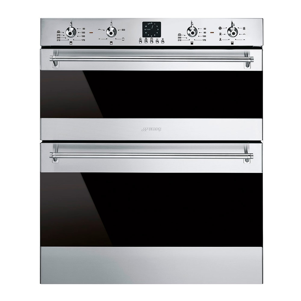 Smeg Classic Built-Under Multifunction Double Oven, Stainless Steel - DUSF636X