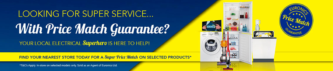 Euronics Superhero - Price Match Guarantee