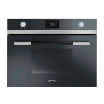 Smeg Linea Aesthetic Microwave Oven with Grill, Stainless Steel