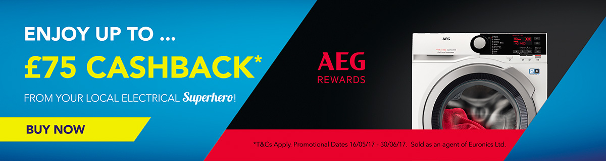 AEG-Up to £75 CASHBACK - Treat Yourself